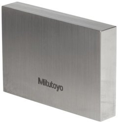 "Mitutoyo Steel Rectangular Gage Block, ASME Grade 0, 0.315"" Length"
