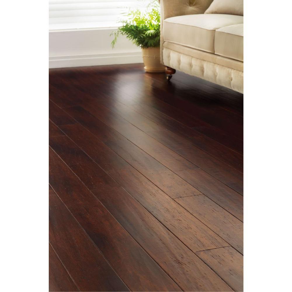 hdc 1 2 x5 1 8 x72 7 8 strand woven dark mahogany solid bamboo