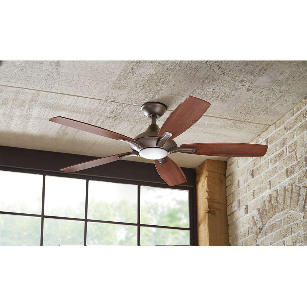 led ceiling fan brushed nickel14425 - Home Decorators Collection Ceiling Fan