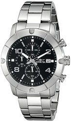 Invicta 17762 Men's Specialty Chronograph Stainless Steel Black Dial Watch
