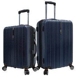 Traveler?s Choice Tasmania 25'' & 21'' Spinner Set 2Pk - Black
