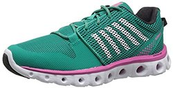 K-Swiss Women's X Lite Cross Trainer Shoe, Dynasty Green/Shocking Pink, 8.5 M US