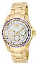 New Womens Invicta 17714 Speedway 3.73ctw Tanzanite Gold Tone Bracelet Watch