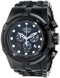 Men's Bolt Reserve Chrono Black IP Stainless Steel and Dial