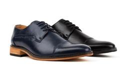 Signature Men's Cap Toe Oxfords: Black - 9.5