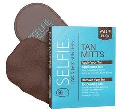 Selfie Tan'n Go Sunless Applicator Mitt and Exfoliating Mitt Combo