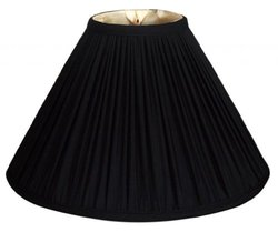 Royal Designs Coolie Empire Gather Pleat Basic Lamp Shade - Black