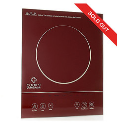 Cook's Companion Colored Glass Programmable Induction Burner - Merlot