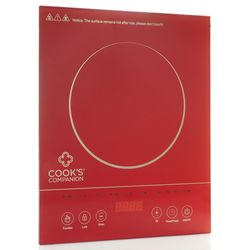 Cook's Companion Colored Glass Programmable Induction Burner - Red