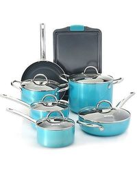Todd English Super Titan Ceramic Nonstick 11 Pc Cookware Set - Aqua