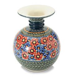 "Stoneware Polish Theresa's Angel Hand Painted Andrea Vase - Size: 9.5"""