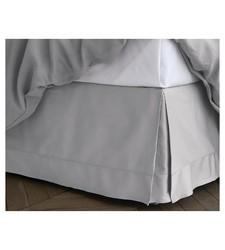 Fieldcrest Hem Stitch Bedskirt - Gray - Size: California King