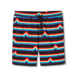 Pride Men's Woven Shorts - Rainbow Stripe - Size: Small