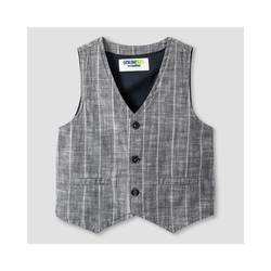 Genuine Kids by OshKosh Boys' Fashion Vest - Charcoal Stripe - Size: 7