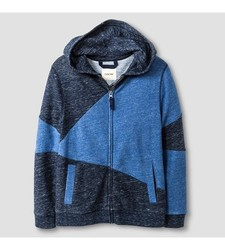 Cat & Jack Boy's Fleece Zip Hoodie - Blue - Size: Large