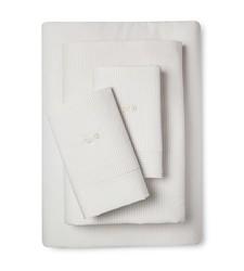 Fable 300TC Orlantha Sheet Set - Linen/Cream - Size: Full