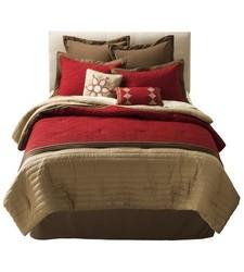 Kingston Matelasse Comforter Set 8 Piece - Red - Size: California King