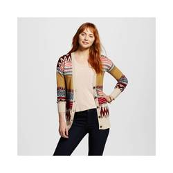 Mossimo Women's Tribal Stripe Boyfriend Cardigan - Multi - Size: Small