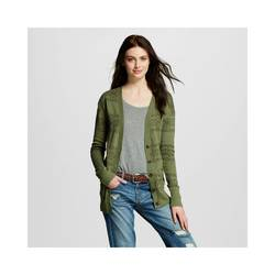 Mossimo Women's Tribal Boyfriend Cardigan - Olive - Size: Large