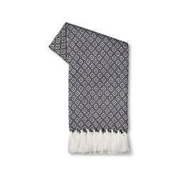 Threshold Metallic Geo Sweater Knit Throw - Navy Blue