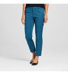 Merona Women's Classic Ankle Pant Jacquard - Blue - Size: 8
