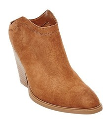 Dolce Vita Women's Nya Booties - Saddle Brown - Size: 7