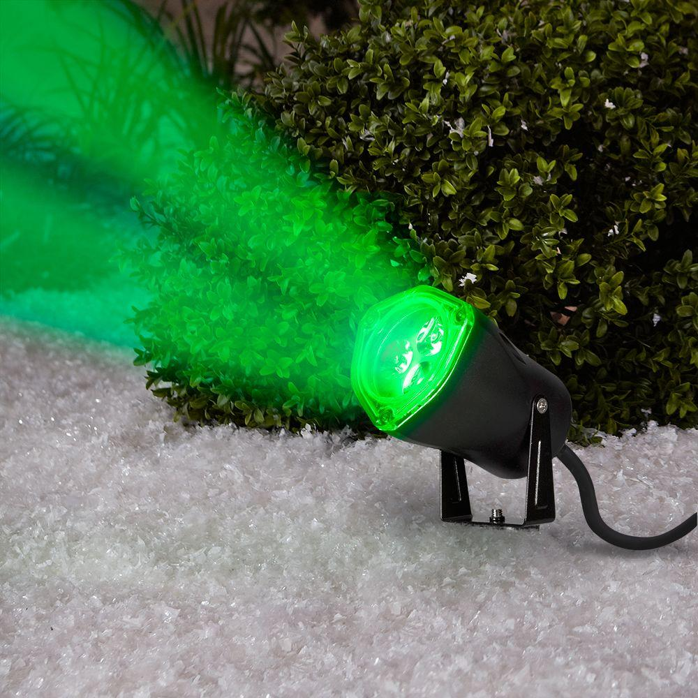 """Home Accents Holiday 88092 3.5"""" LED Green Light Outdoor ..."""