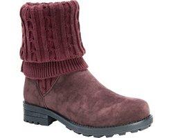 MUK LUKS Women's Kelby Sweater Boot - Red - Size: 9