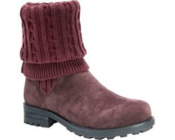 Muk Luks Women's Kelby Foldable Fur-Lined Boots - Burgundy - Size: 8