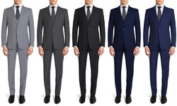 Gianni Uomo Men's Suits: Black-40r/34w