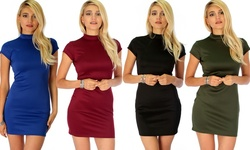 Lyss Loo Daring Dame Bodycon Dress: Olive/ M