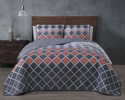 3-piece Reversible Quilt Sets: Levi-spice/king