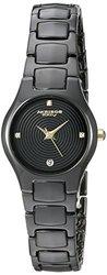 Akribos XXIV Women's Slim Ceramic Quartz Bracelet Watch AKGP581BKG