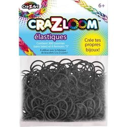 Cra-Z-Loom Latex-Free Rubber Band - 300ct - Black