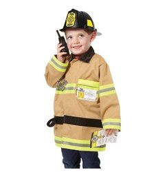 Melissa & Doug Lets Pretend Set Firefighter Dress Up Role Play Costume