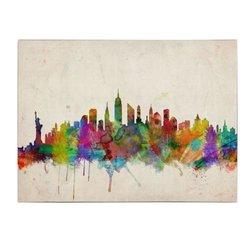 16 in. x 24 in. New York Skyline Canvas Art