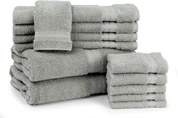 Cambridge Caldwell at Home Egyptian Cotton 12 Piece Towel Set - Gray