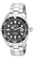 Invicta Men's 'Pro Diver' Swiss Quartz Stainless Steel Casual Watch, Color:Silver-Toned (Model: 17555)
