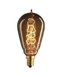 Bulbrite NOS25ST15/E12 25-watt Nostalgic Edison ST15 Incandescent, E12 Candelabra Base, Vintage Spiral Filament, Warm White