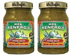 Mrs. Renfro Jalapeo Green Salsa Hot - 6 Pack - 16 oz.each