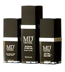 MD Skin Care Kit- Ultimate Eye Cream, Ultimate Stem Cell Factor 55, and Ultimate Anti-aging Skin Brightening Cream