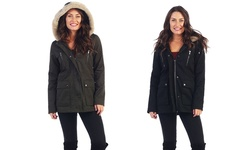 Women's Anorak Twill Jacket:olive/Medium