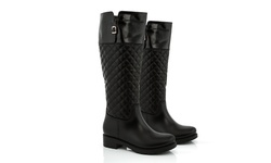 Snow Tec Riding Boot With Waterproof Outsole 2391-4 Black 7