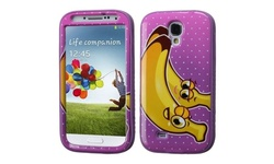Bannana Verge Hybrid Case For Galaxy S4 - Electric Purple