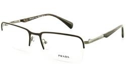 Prada Women's Eyeglasses Optical Frames - Matte Brown/Gunmetal