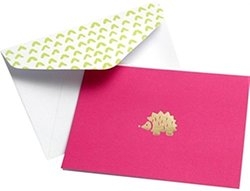 Gartner Studios Pink & Gold Hedgehog Blank Cards with Envelopes - 10 Count