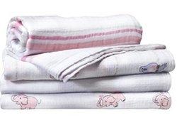 Aden & Anais 4-Pack SwaddlePlus Muslin Blankets - Jillaroo