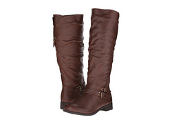 Xoxo Women's Manuel Wide Calf Tall Boot - Brown - Size: 8