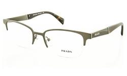 Prada Optical: Pr 50pv - Lai1o1 Brushed Gunmetal Frame