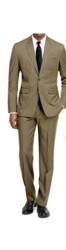 Braveman Men's 2pc Slim Fit Suit - Tan - Size: 46Rx40W